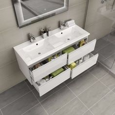 Save floor space with our wall hung vanity units, the perfect solution for small bathroom spaces or contemporary looks. Bathroom Sinks For Sale, Corner Bathroom Vanity, Bathroom Vanity Storage, Loft Bathroom, Large Bathrooms, Bathroom Vanity Lighting, Modern Bathroom, Small Bathroom, Bathroom Ideas