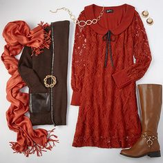 Fall Fashions // Oranges and Browns