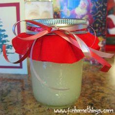 cute homemade gift idea--DIY peppermint foot scrub