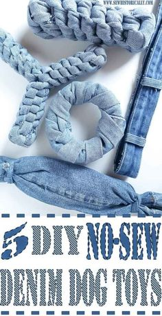 Make no-sew recycled denim dog toys out of old jeans! It's easy, fast and free! And your pup will love it! These heavy duty recycled denim dog toys are great as chewing dog toy, to play fetch and tug-of-war. For the love of dogs and puppies. Diy Dog Toys, Pet Toys, Diy Animal Toys, Diy Chew Toys For Dogs, Homemade Dog Toys, Dog Chew Toys, Diy Pitbull Toys, Cool Dog Toys, Diy Toys Easy