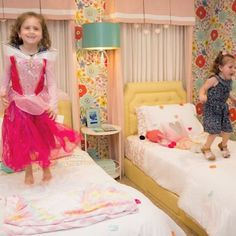 Two little monkeys jumping on their beds! 🐒🐒 Layla and Lexi waisted no time breaking in their new room when we revealed back in June. Aren't these siblings the sweetest? 🎀  Interested in getting involved? Here are 3 easy things you can do to help SGBD: 1) Subscribe to our Youtube Channel and get a notification every time a new room reveal video goes live. 2) Like us on Facebook! We've got a national SGBD page and affiliate pages for each local chapter 3) Share our story! If you've got a…
