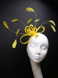 This yellow fascinator is calling my name
