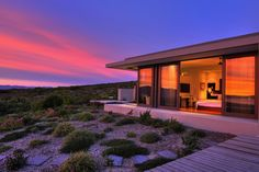 Grootbos Private Nature Reserve - Villa bei Sonnenuntergang