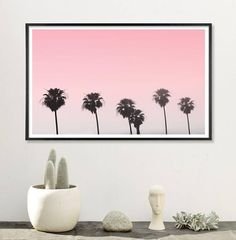 """These large Photo Poster prints are great home decor accents and perfect for your new apartment or dorm room. Printed on matte poster paper and super affordable for their large size. Available in 24"""" x 30"""" . for $35 or 36"""" x 48"""" for 55. Palm Tree Art Art for teen girls room teen room decor palm"""
