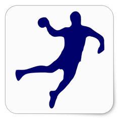 Handball Silhouette Square Sticker