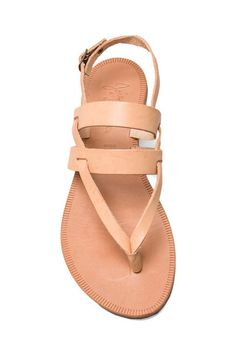 Joie Positano Sandal in Natural/Natural in Natural & Natural   REVOLVE