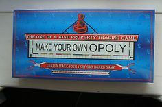 Make Your Own Opoly Board Game   eBay
