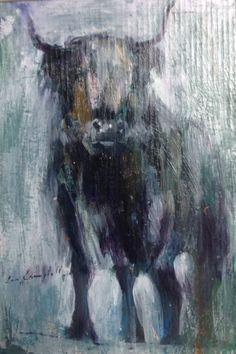 Con Campbell, The Highlander, Medium, Oil on Board, size Modern Art, Contemporary, Art Drawings, Oil, Abstract, Medium, Board, Artwork, Painting
