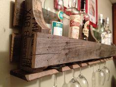 Reclaimed/Pallet Wood Wine Rack by RockPaperSawzall on Etsy, $70.00