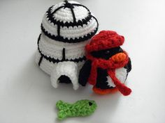 Ravelry: Butler the Tiny Penguin and his Igloo Home pattern by Cheryl Bruce