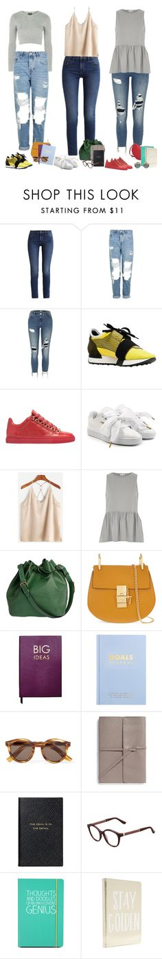 """""""Note to yourself"""" by audrey-balt ❤ liked on Polyvore featuring Topshop, Calvin Klein, River Island, Balenciaga, Puma, Louis Vuitton, Chloé, Sloane Stationery, kikki.K and Illesteva"""