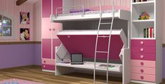 Double Decker Room Design Study room design ideas personal cave where you can become effective and productive is necessary to support your career or study. A wide variety of do. Teenage Girl Bedroom Designs, Teenage Girl Bedrooms, Girls Bedroom Furniture, Bedroom Sets, Dream Bedroom, Kids Furniture, Ikea Bed, Kids Bunk Beds, Childrens Beds
