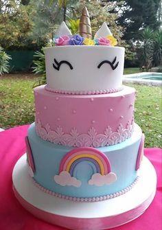 Ideas For Birthday Food Frozen Kids Rainbow Unicorn Party, Rainbow Birthday, Unicorn Birthday Parties, Birthday Cake, Rainbow Theme, Frozen Kids, Cupcake Cakes, Cupcakes, Party Cakes