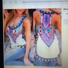 Women's Summer Vest Sleeveless Blouse, Size L Woman's summer vest sleeveless shirt blouse casual tank top size large. Is a little bit longer in the back than the front..brand new never worn , without tags. Didn't fit me , fits more like  medium Unknown  Tops Blouses