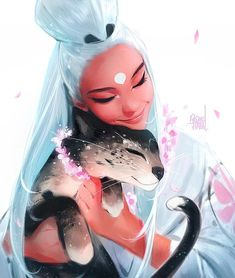 """rossdraws: """"First art piece of Nima and a friend 😊. Hope everybody had a great holiday spent with their loved ones. My biggest focus this year will be my book Nima! Art And Illustration, Character Illustration, Graphic Illustrations, Art Anime Fille, Anime Art Girl, Manga Girl, Anime Girls, Cartoon Kunst, Cartoon Art"""
