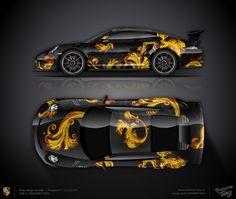 Wrap design concept #30 Luxury pattern for Porsche 911 GT3 RS 991 for sale