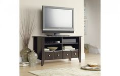 These are not your average TV stand living room design, these are coolest from the cool! Check out 9 Cool Places to Put Your TV stand in your House. Old Tv Stands, Wooden Tv Stands, High Tv Stand, Espresso Tv Stand, Tv Stand Designs, Living Room Cabinets, Tv Cabinets, Patio Interior, Interior Design