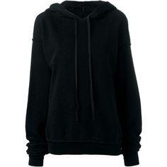 Unravel Project slashed hoodie (4.165 NOK) ❤ liked on Polyvore featuring tops, hoodies, sweaters, black, slash top, hooded sweatshirt, hoodie top, cotton hooded sweatshirt and sweatshirt hoodies