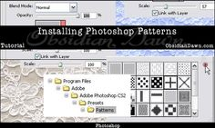 Good tutorial on installing and using Patterns in Photoshop :)