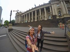 A broken down tram left us outside the Melbourne parliament building! Shall we take a tour? @GoPro #parliament #australia . . . . . . #GoPro #goprohero4 #couple #backpacker #backpackerlife #travelgoals #relationshipgoals #building #goprooftheday #photooftheday #wanderlust #travel #travellingtogether #travellingcouple #globetrotter #digitalnomad #goprowill #GoPro_Boss #goproeracademy #herobyhero #goprostyles #architecture #victoria #Melbourne #tourist #backpackersworld #longhair…