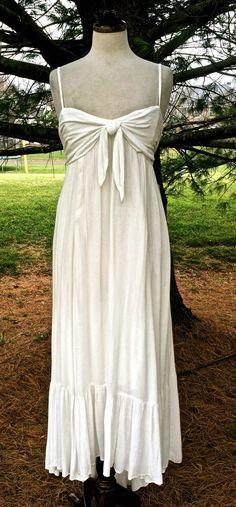 NWT $128 Free People FP TOTALLY TUBULAR ivory baby doll Maxi Dress ruffle hem S #FreePeople #Maxi #SummerBeach