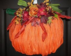 Fall Deco Mesh Wreath/Fall Wreath/Fall Mesh by OneofaKindWreath
