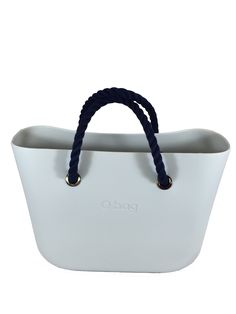 c687de299f The indestructible Ivory O Bag + Short Navy Rope Handles   Hot summer look!  Get