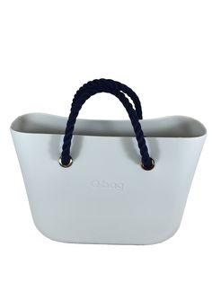 868c39ea57 The indestructible Ivory O Bag + Short Navy Rope Handles   Hot summer look!  Get