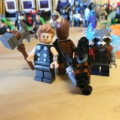 Especially looking forward to seeing this trio on Infinity War since Rocket and Groot are my favorite MCU characters and Thor is also up there since Ragnarork. #Lego #marvel #superheros #avengers #infinitywar #avengersinfinitywar #thor #rocket #groot #teengroot #stormbreaker #rocketraccoon #raccoon #toy #brick #bricks #comics #iamgroot