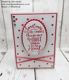 Ann's Happy Stampers: Pretty Layering Love Card