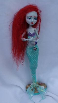 monster high repaint MERMAID lagoona blue3 commish by phairee004. Most beautiful NH redo Ive ever seen. Love love her.