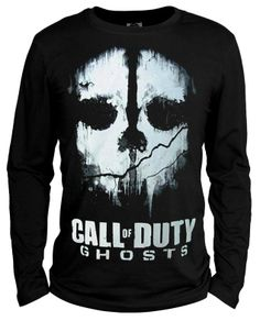 Autumn long-sleeve 10 call of duty t-shirt 10 ghosts clothes $32.99