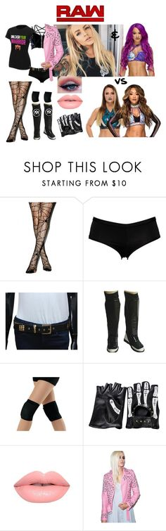 """""""Airica Monroe & Sasha Banks vs Emma & Alicia Fox (Monday Night RAW)"""" by atomic-blaster ❤ liked on Polyvore featuring WWE, Volcom and Lime Crime"""