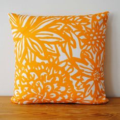 Flora Pillow // MOD by Millworks  Where was this when I needed a yellow/orangey pillow? Sheesh.
