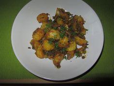 Pilzpfanne mit Currykartoffeln
