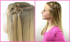 Knotted Hearts | Valentine's Day Hairstyle | BabesInHairland.com