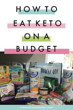 How to live, eat, cook, and shop for a ketogenic lifestye on a budget. Affordable low carb and high fat recipes.