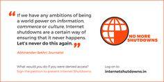 Internet Shutdowns in India Ambition, Portal, Internet, India, Let It Be, Shit Happens, Delhi India, Indian