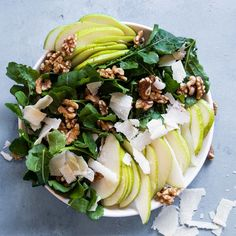 Super easy summer pear salad that has a beautiful mixture of sweet and sour ingredients! Healthy Recipes On A Budget, Heart Healthy Recipes, Healthy Meals For Kids, Healthy Meal Prep, Healthy Salad Recipes, Healthy Cooking, Vegetarian Recipes, Healthy Eating, Meal Recipes