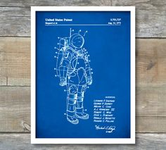 Patent Print, Patent Poster, NASA Space Suit, Outer Space, NASA Print, Space Wall Art, P226 by NeueStudioArtPrints on Etsy https://www.etsy.com/listing/249936601/patent-print-patent-poster-nasa-space
