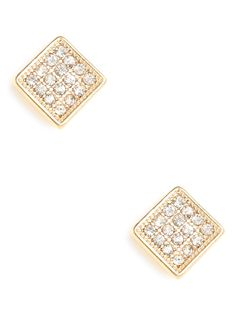 a classic:Gold Ice Square Studs
