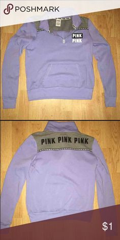ISO ISO VS PINK LILAC HALF ZIP ! Help me find ! 💖 I DO NOT HAVE THIS I AM IN SEARCH OF THIS IN A LARGE OR MEDIUM !!! ID LIKE TO TRADE BUT I WILL PURCHASE FOR A REASONABLE PRICE 💖 PINK Victoria's Secret Tops Sweatshirts & Hoodies