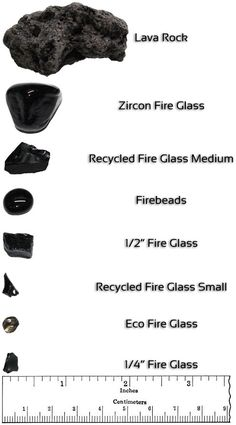 Take a look at the chart to see the different sizes of Fire Glass in relation to each other, and compare it to lava rock! Glass Fire Pit, Fire Pits, Types Of Fire, Colors Of Fire, Fire Table, Backyard Paradise, Gas Fires, Fire And Ice, Lava