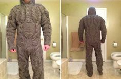 Full body knitted suit for those harsh winter mornings - coolfeed.co