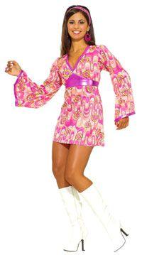 Flower Power Dress Mod Costume - Hippie and Disco Costumes Mod Dress, Fancy Dress, Costume Craze, Jeans Denim, Costume Dress, Costumes For Women, Flower Power, Lady, Girls