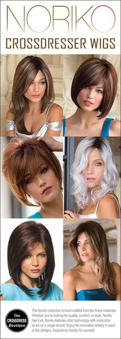 Transgender Tips, Male To Female Transformation, Transgender Transformation, Natural Looking Wigs, Transitioning Hairstyles, Wig Styles, Crossdressers, Wig Hairstyles, Feminism