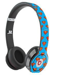 "Custom ""Superman"" Beats By Dre Solos Beats Audio Headphones, Cute Headphones, Wireless Headphones, Custom Beats, Beats Pill, Beats Studio, Tech Hacks, Beats By Dre, Cute Rings"
