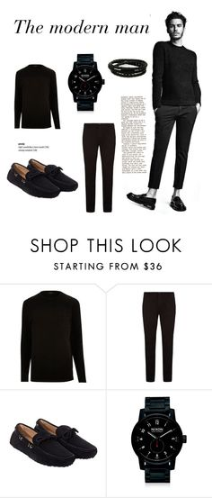 """Man"" by camilla-sjoeberg on Polyvore featuring BOSS Hugo Boss, Carshoe, Nixon, Porsche Design, men's fashion and menswear"
