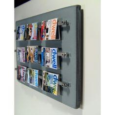 9 pocket acrylic wall mount magazine rack display for for Trendy magazine rack