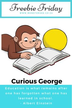 Monsters Ed:  Freebie Friday ~ Curious George Resources Literacy Skills, Early Literacy, Writing Skills, Learn To Tell Time, Learn To Read, Pre Writing, Writing A Book, Pbs Kids, Interactive Activities